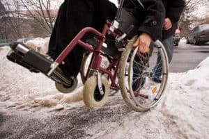 ADA Compliant Snow Removal - Man in Wheelchair