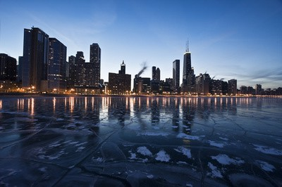 chicago ice skyline