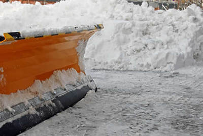 snow plow close up - chicago snow removal