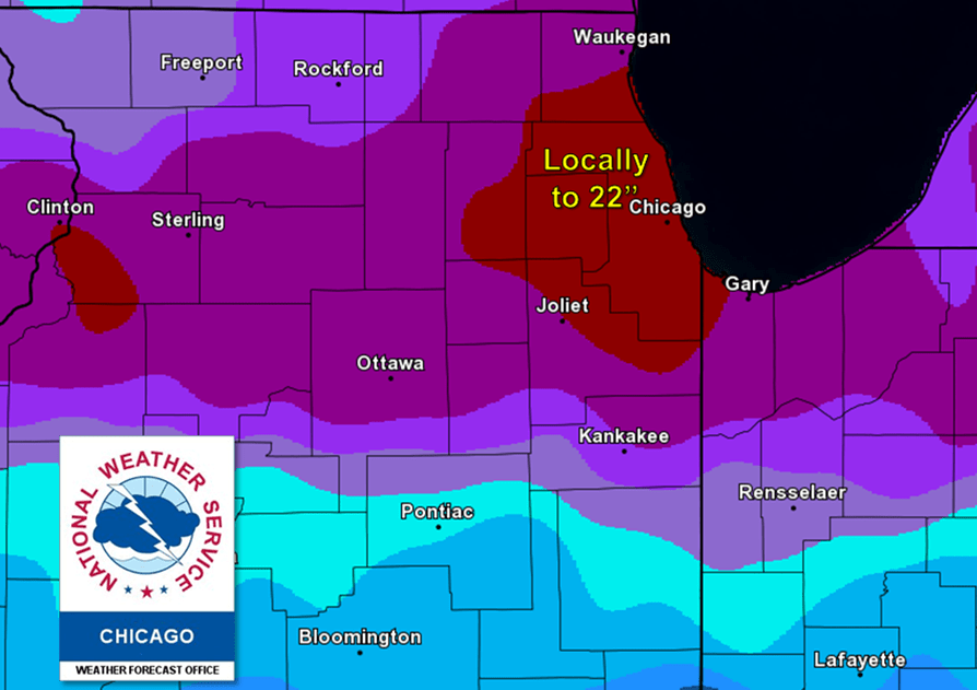 Chicago Snow Storm Map - Brancato Snow Removal