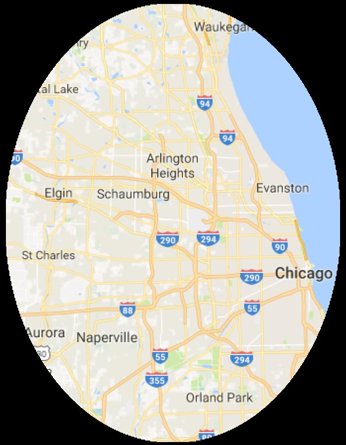 Brancato Service Area Map
